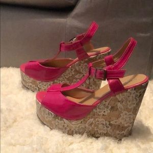 Eye Candie Lora 2 Wedge Heels